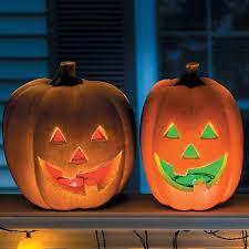 halloween pumpkin lights led color changing pumpkin lights the green head