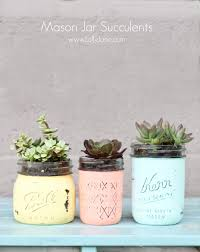 cute succulent pots diy mason jar succulent pots with free printable gift tags