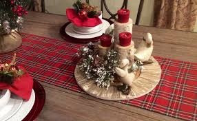 christmas table runners red plaid table toppers plaid tartan