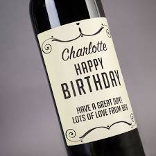 birthday wine personalised wine happy birthday swirls gettingpersonal co uk