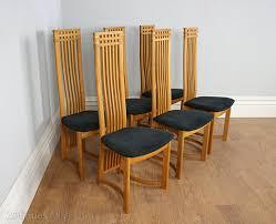 Art Deco Armchairs For Sale Antiques Atlas Six Actona Art Deco Oak High Back Dining Chairs