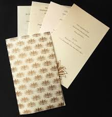 white and gold indian wedding cards matik for