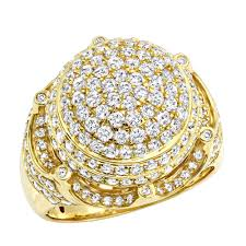 mens crown rings images Statement and hip hop jewelry 3 carat mens diamond ring w crown in jpg