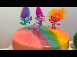 diy trolls cake tie dye batter and mirror glaze youtube