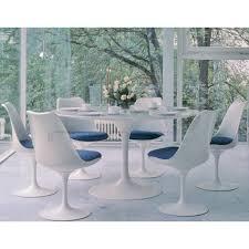 tulip oval 2m dining table eero saarinen aluminium interior