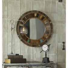global direct 32 in x 32 in reclaimed wood framed mirror 04017
