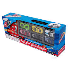 toy truck carrier race cars colors boys kids toddlers indoor