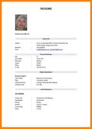 Samples Of Cv Format Resume For Job Application Resume For Your Job Application