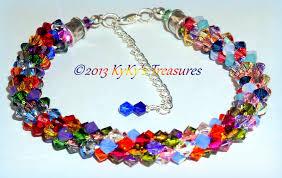 bracelet color crystal images Multi braid bracelet images JPG