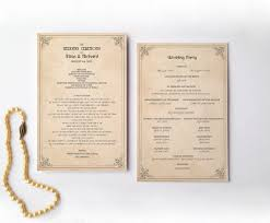 Wedding Program Order Retro Wedding Program Order Of Service Ceremony Reception