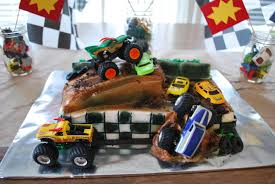 monster truck race track toy little miss ritchie a monster truck 3rd birthday