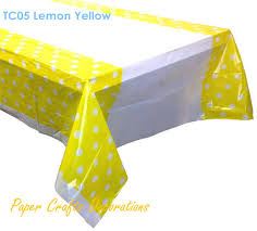 plastic table covers for weddings 108 180cm lemon yellow polka dots disposable square plastic table