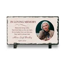 personalized in loving memory gifts personalized memorial photo plaque memorial plaque