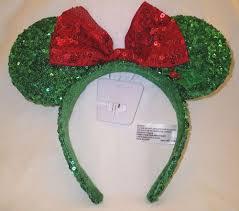 sequin headbands disney minnie mouse ears green sequin headband w bow
