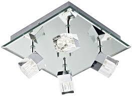dar logic modern 4 light led bathroom ceiling spotlight chrome