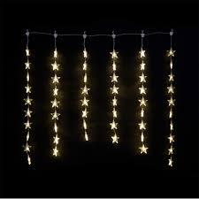 1m x 1m warm white indoor star curtain light 54 leds