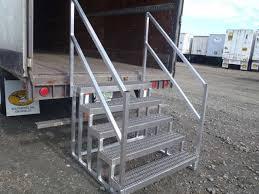 storage trailer stairs u0026 mobile aluminum steps