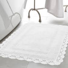 laura ashley home crochet 100 cotton bath rug u0026 reviews wayfair