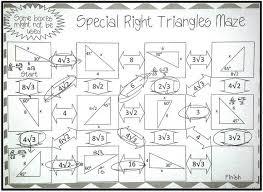 special triangle worksheet worksheets