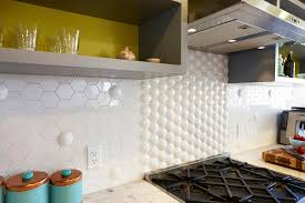 Cheap Bathroom Tile Hexagon Tile In Kitchen Contemporary With Stacked White Subway