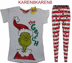 the grinch christmas pyjamas ladies leggings t shirt primark uk 6