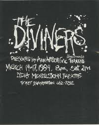 ann arbor civic theatre program the diviners march 14 1984