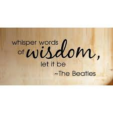 whisper words of wisdom the beatles song quote wall saying vinyl
