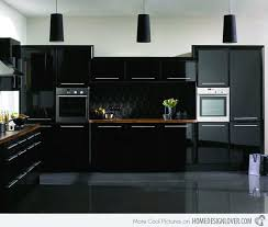 Black Kitchen Cabinets Outstanding Modern Black Kitchen Cabinets 15 Astonishing Black