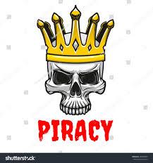 dreadful cartoon skull golden king crown stock vector 404828080