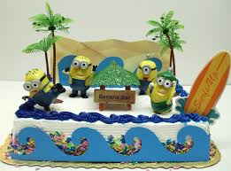 minions cake toppers despicable me banana bar minion birthday