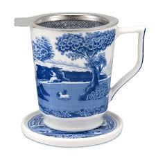 spode blue italian tisaniere spode uk