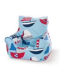 Bean Bag Chairs For Boats Children U0027s Bean Bag Seat Sailing Boat Blue Kidzdens