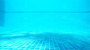 Inside Swimming Pool Four Foot Depth Marker On Side Of Swimming Pool Stock Footage