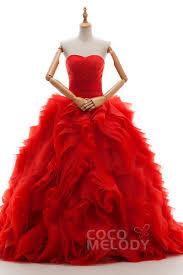 Red Wedding Dresses Fiery Red Wedding Dresses