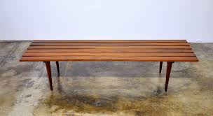 Slat Bench Coffee Table Select Modern Mid Century Modern Slat Bench Or Coffee Table