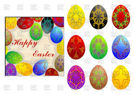 set of bright easter eggs vector image 99650 u2013 rfclipart