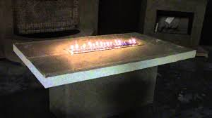 How To Build A Propane Fire Pit Table by 2013 Rectangle Fire Table Kit By Bbq Coach Youtube