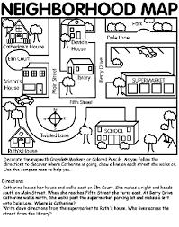 neighborhood map coloring page crayola com
