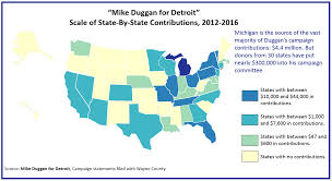 Wayne State Map Detroit By The Numbers National Money For Mike Duggan Map