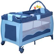 travel baby bed images Costway rakuten new blue baby crib playpen playard pack travel jpg
