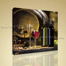 Abstract Home Decor Print Abstract Painting Wall Art On Canvas Wine Food Dining Room