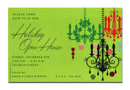 Christmas Invitation Cards Holiday Open House Invitation Wording Thebridgesummit Co