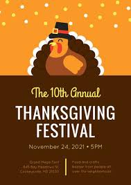 thanksgiving poster templates canva