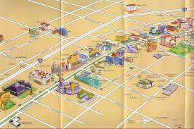 Las Vegas Strip Hotels Map by Maps