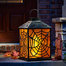 thomas kinkade halloween the two foot flickering halloween lantern hammacher schlemmer