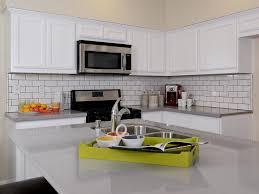 Kitchens With Subway Tile Backsplash Kitchen Beautiful White Subway Tile Backsplash Neutral
