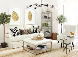 Contemporary Living Room With High Ceiling By Ballard Designs - Ballard design sofa