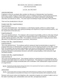 Secretary Job Description On Resume by How To Make A Resume For Secretary Position