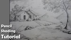 how to draw a village landscape with pencil epi 4 youtube
