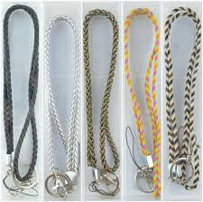 braided leather necklace images Multi color braided leather necklace lanyard keychain for id badge jpg